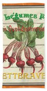 French Vegetable Sign 4 Hand Towel by Debbie DeWitt