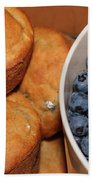 Fresh Blueberries And Muffins Bath Towel