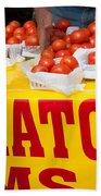 Cedar Park Texas Fresh Tomatoes Bath Towel