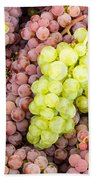 Fresh Grapes On Display Bath Towel
