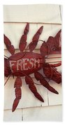 Fresh Maine Lobster Sign Boothbay Harbor Maine Bath Towel