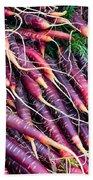 Fresh Red Carrots Bath Towel