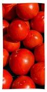 Fresh Ripe Red Tomatoes Bath Towel