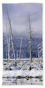 Fresh Snowfall And Bare Trees Bath Towel