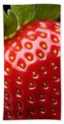 Fresh Strawberry Close-up Bath Towel