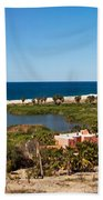 Fresh Water Lagoon At Playa La Poza Bath Towel