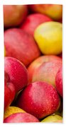Freshly Harvested Colorful Crimson Crisp Apples On Display At Th Bath Towel