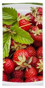 Freshly Picked Strawberries Hand Towel