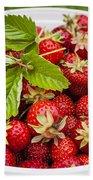 Freshly Picked Strawberries Bath Towel