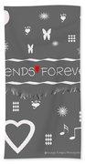 Friends Forever Valentine Bath Towel