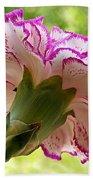 Frilly Carnation Bath Towel