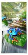 Frog Capades Bath Towel