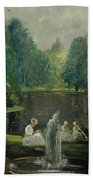 Frog Pond In Boston Public Gardens Bath Towel