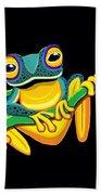 Frogs On Vines Bath Towel