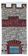 Front Of Calumet Hotel-1887  In Pipestone-minnesota Bath Towel