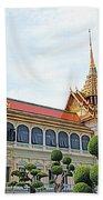 Front Of Reception Hall At Grand Palace Of Thailand In Bangkok Bath Towel
