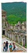 Front Of Theater In Ephesus-turkey Bath Towel