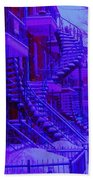 Frost On  Winding Staircases Bath Towel