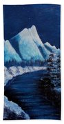 Frosty Night In The Mountains Bath Towel