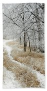 Frosty Trail 2 Bath Towel