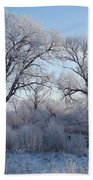 Frosty Trees Bath Towel