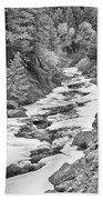 Frozen Boulder Creek Boulder Canyon Colorado Bw Bath Towel