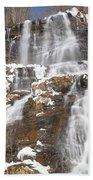 Frozen Falls From The Bridge Bath Towel
