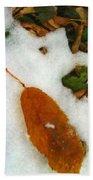 Frozen Nature - Digital Painting Effect Bath Towel