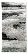 Frozen Niagara River Rapids Above Niagara Falls Bath Towel