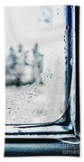 Frozen Windowpane Bath Towel