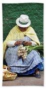 Fruit And Vegetable Vendor Cuenca Ecuador Bath Towel