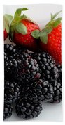 Fruit IIi - Strawberries - Blackberries Bath Towel