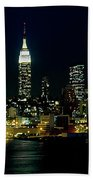 Full Moon Rising - New York City Bath Towel