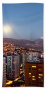 Full Moon Rising Over La Paz Bath Towel