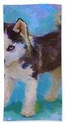 Alaskan Husky Sled Dog Puppy Painting By Karen Whitworth