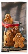 Funny Gingerbread Men Bath Towel