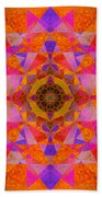 Fushia Yantra Diamond Mandala Bath Towel