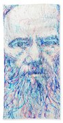 Fyodor Dostoyevsky / Colored Pens Portrait Bath Towel