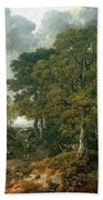 Gainsboroughs Forest Cornard Wood, C.1748 Oil On Canvas Bath Towel