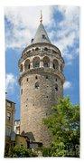 Galata Tower Landmark In Istanbul Turkey Bath Towel