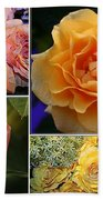 Beautiful Roses- A Collage Bath Towel