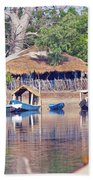 Gambian Fishing Village Bath Towel