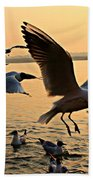 Ganges River Gulls Bath Towel