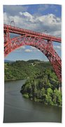 Garabit Viaduct Bath Towel