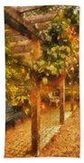 Garden Flowers With Bench Photo Art 01 Bath Towel