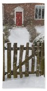 Garden Gate In Snow Bath Towel