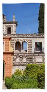 Garden In Alcazar Palace Of Seville Hand Towel