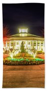 Garden Night Scene At Christmas Time In The Carolinas Bath Towel
