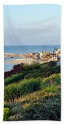 Garden Overview - Lyme Regis Bath Towel