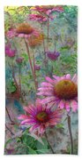 Garden Pink And Abstract Painting Bath Towel